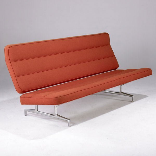 3: CHARLES AND RAY EAMES Aluminum Group Sofa