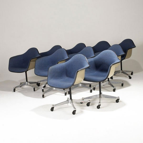 7: CHARLES AND RAY EAMES / HERMAN MILLER Ten armchairs