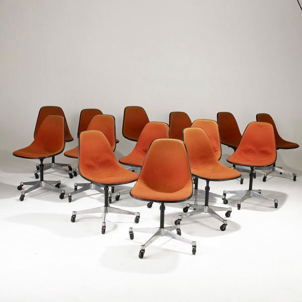 10: CHARLES AND RAY EAMES  Fourteen side chairs