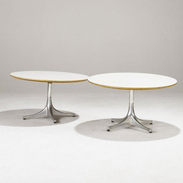 23: GEORGE NELSON /HERMAN MILLER Swag leg tables