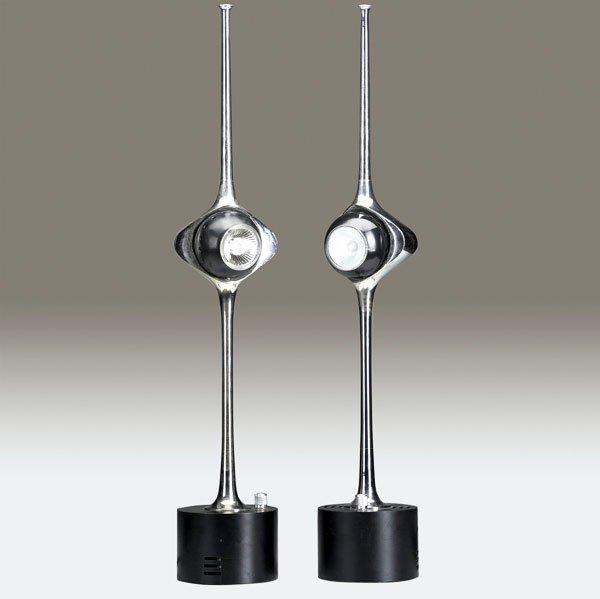 530: ANGELO LELLI / ARREDOLUCE Two Cobra table lights