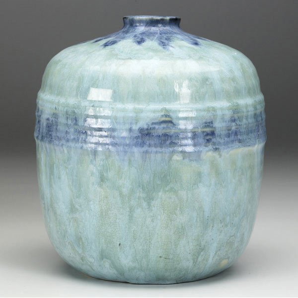 2: ROSEVILLE Turquoise Imperial II vase