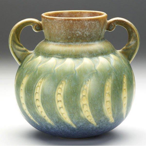 3: ROSEVILLE Blue Falline vase