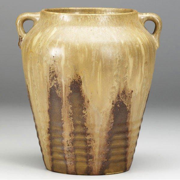 9: ROSEVILLE Brown Imperial II vase