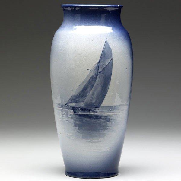 15: ROSEVILLE Azurean vase by Anthony Dunleavy