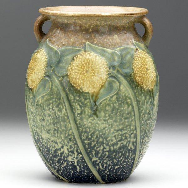 17: ROSEVILLE Sunflower vase