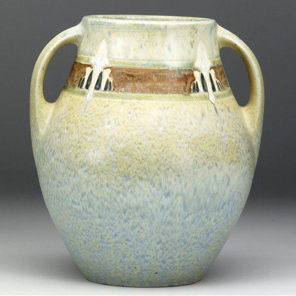 20: ROSEVILLE Green Montacello vase