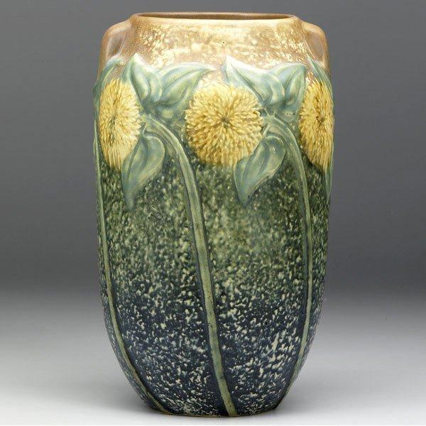 132: ROSEVILLE Sunflower vase