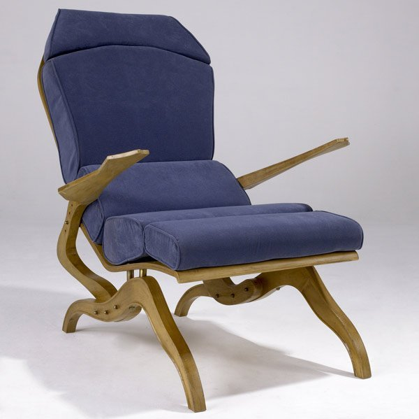 600: CAMPO & GRAFFI Laminated bentwood lounge chair