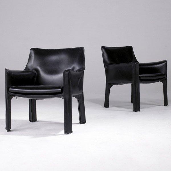 609: MARIO BELLINI / CASSINA Pair of Cab lounge chairs