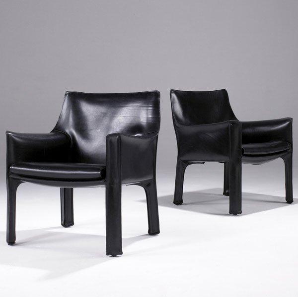 610: MARIO BELLINI / CASSINA Pair of Cab lounge chairs