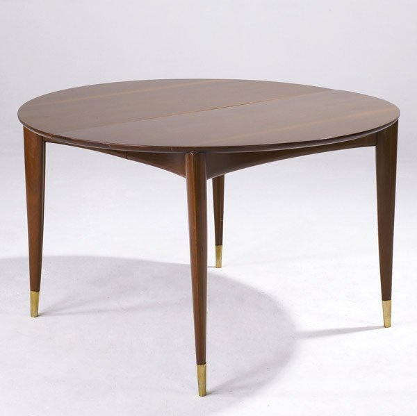 612: GIO PONTI Mahogany extension dining table