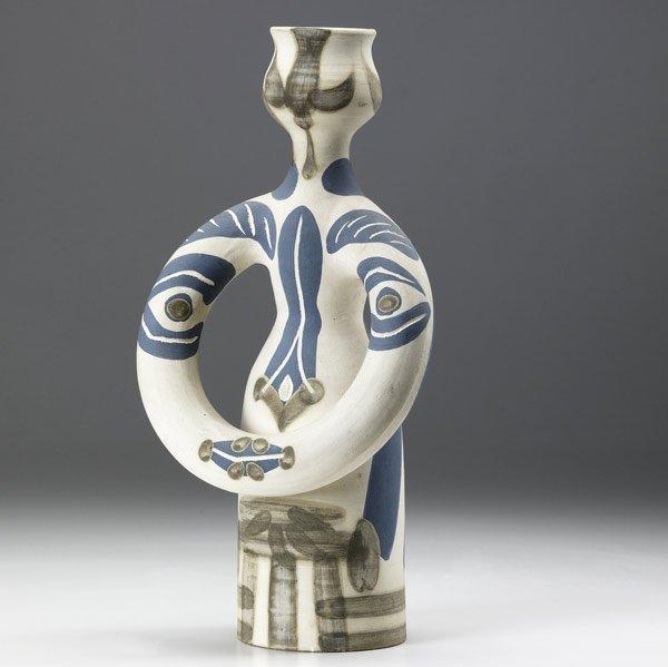 615: PICASSO / MADOURA Figural ceramic vase