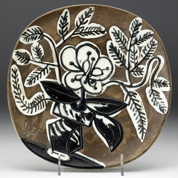 616: PICASSO / MADOURA Glazed faience plate