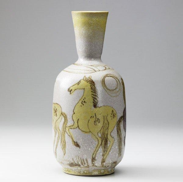 619: GUIDO GAMBONE Tall bottle-shaped vase