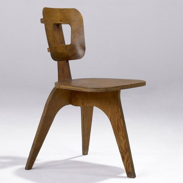 716: ARTHUR COLLANI Plywood side chair