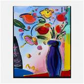Peter Max, Untitled (Vase with Flowers)