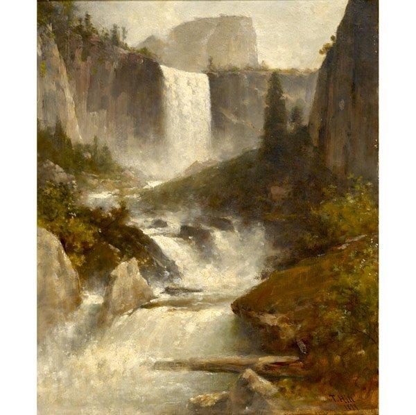 8: Thomas Hill (American, 1829-1908) Vernal Falls, Yo