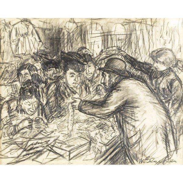 9: William Glackens (American, 1870-1938) Peddler on