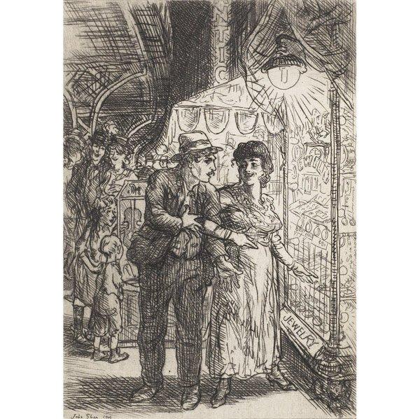 11: John Sloan (American, 1871-1951) Carlotta's Indeci