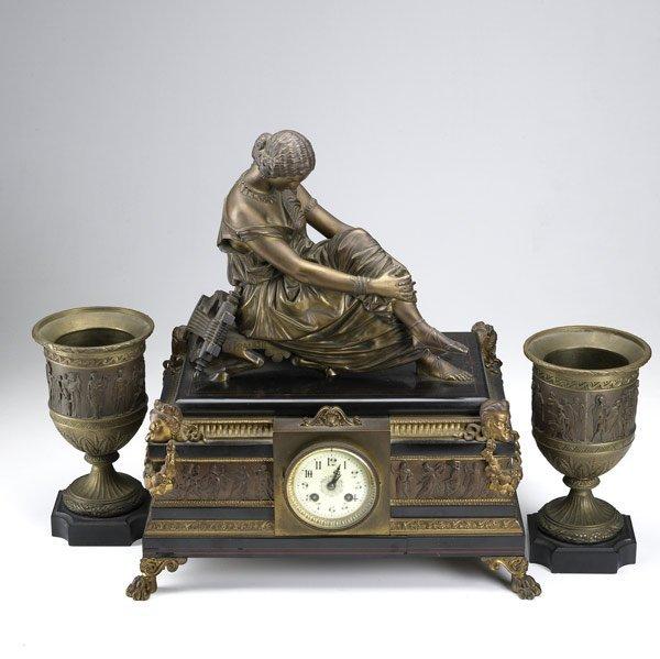 2: French three piece clock set