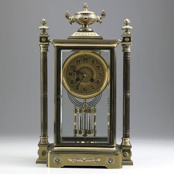 5: French crystal regulator shelf clock, ca. 1900