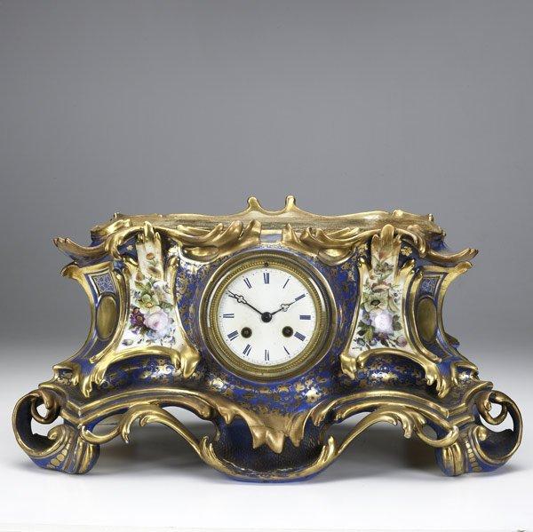 6: Sevres porcelain clock, 19th C.