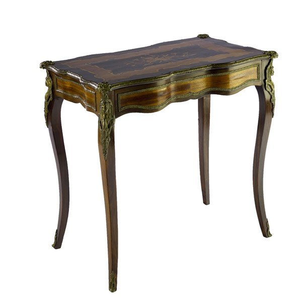 15: French bronze mounted table
