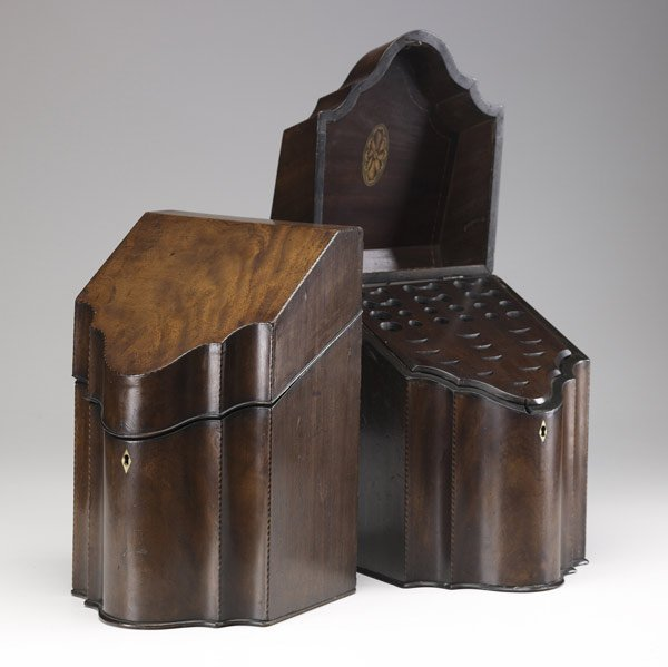 20: Pair of English knife boxes