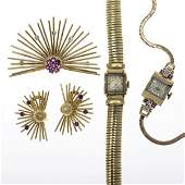 1198A: RETRO GOLD JEWELRY & WATCHES