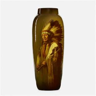 Grace Young for Rookwood Pottery, Native American vase
