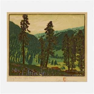 Gustave Baumann, Big Timber Upper Pecos