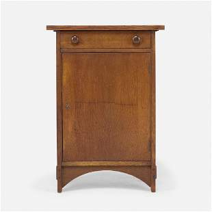 Gustav Stickley, Smoker's cabinet, model 89