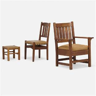 Gustav Stickley, Armchair and side chair