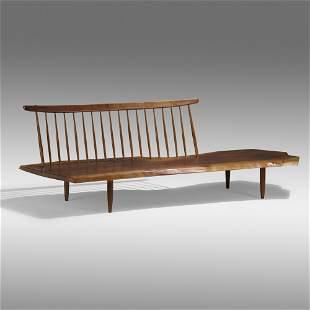 George Nakashima, Conoid Bench with Back