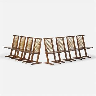 George Nakashima, Conoid chairs, set of eight