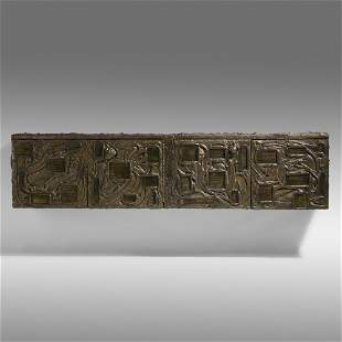 Paul Evans, Sculpted Bronze wall-mounted cabinet