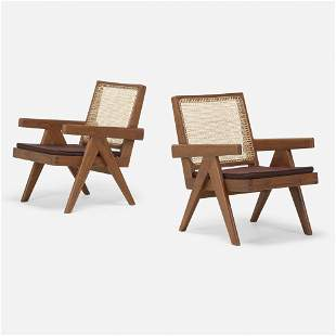 Pierre Jeanneret, Lounge chairs, pair