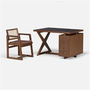 Pierre Jeanneret, Desk and armchair