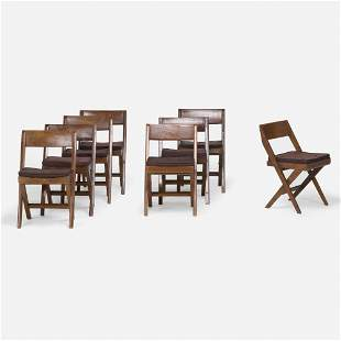 Pierre Jeanneret, Chairs, set of eight