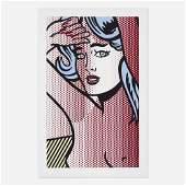 Roy Lichtenstein, Nude with Blue Hair