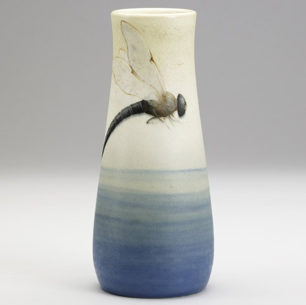 24: CARL SCHMIDT / ROOKWOOD Vellum vase
