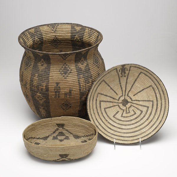 52A: SOUTHWEST NATIVE AMERICAN Three baskets