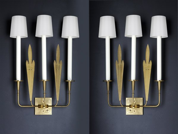 506: TOMMI PARZINGER Pair of wall sconces