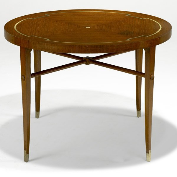 507: TOMMI PARZINGER Mahogany center table