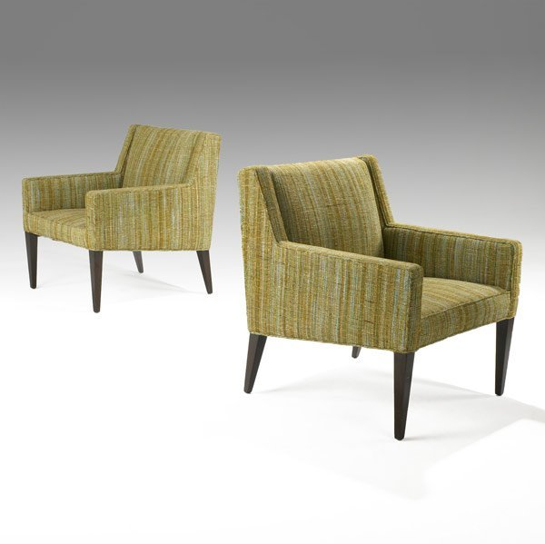515: EDWARD WORMLEY / DUNBAR Pair lounge chairs