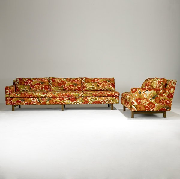 516: EDWARD WORMLEY / DUNBAR L-shaped sofa