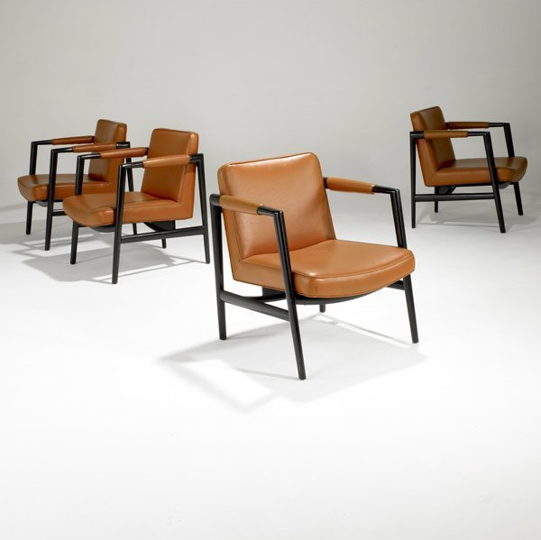 519: EDWARD WORMLEY / DUNBAR Four lounge chairs