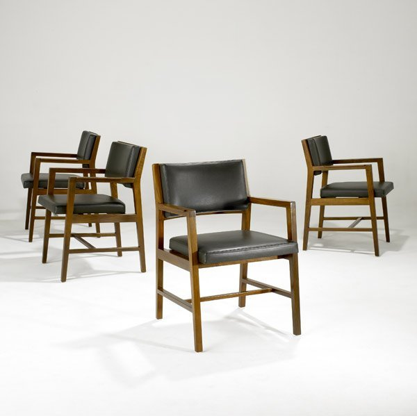 522: EDWARD WORMLEY / DUNBAR Four dining chairs