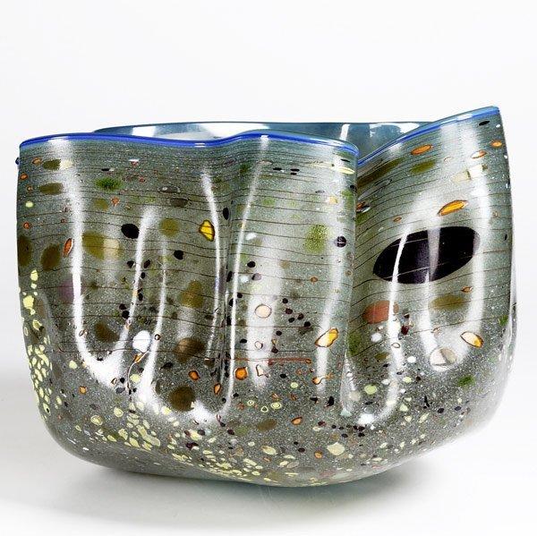 560: DALE CHIHULY Macchia glass vessel